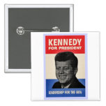 John F. Kennedy Pin Cuadrada 5 Cm