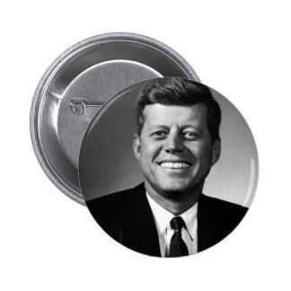 John F. Kennedy Pin Redondo De 2 Pulgadas