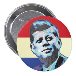 John F. Kennedy Pin Redondo De 3 Pulgadas