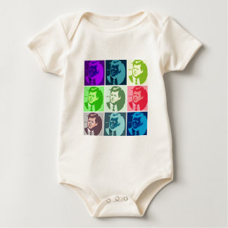 John F Kennedy Pop Art Baby Bodysuit