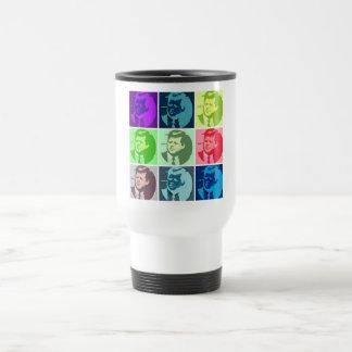 John F Kennedy Pop Art Coffee Mugs