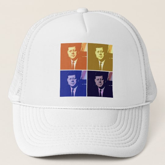 John F Kennedy Pop Art Trucker Hat