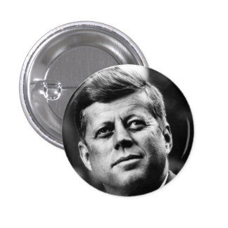 John F Kennedy Portrait Pinback Buttons