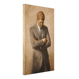 John F. Kennedy Portrait Canvas Print