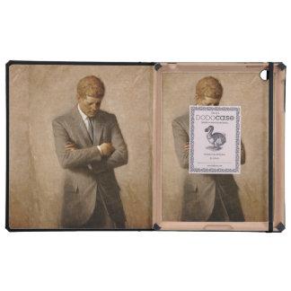 John F. Kennedy Portrait iPad Folio Case