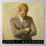 John F. Kennedy Portrait On Canvas Print