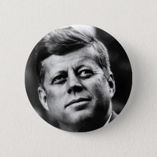 John F Kennedy Portrait Pinback Button