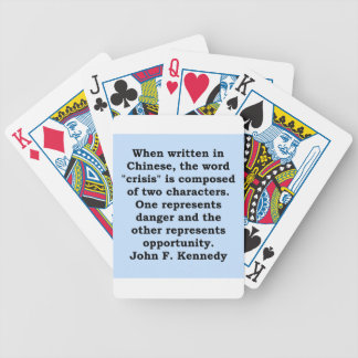 john f kennedy quote bicycle playing cards