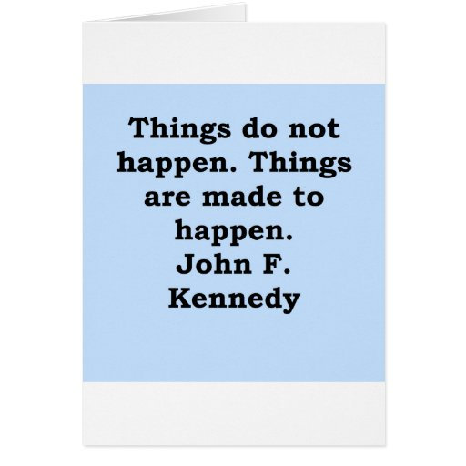 john f kennedy quote card