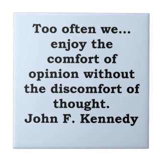 john f kennedy quote ceramic tile