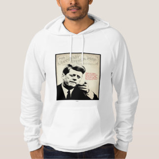 John F. Kennedy Quote Hooded Pullover