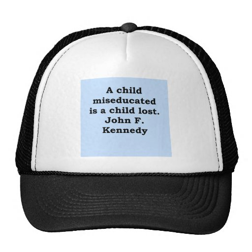 john f kennedy quote mesh hat