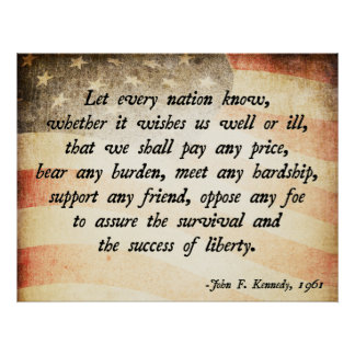 John. F Kennedy Quote Print