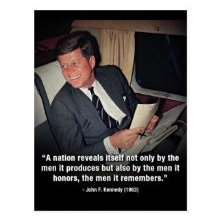 John F Kennedy Quotes Postcard