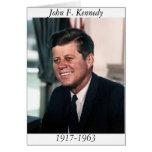 John F. Kennedy, retrato de la foto de la Casa Bla Felicitaciones