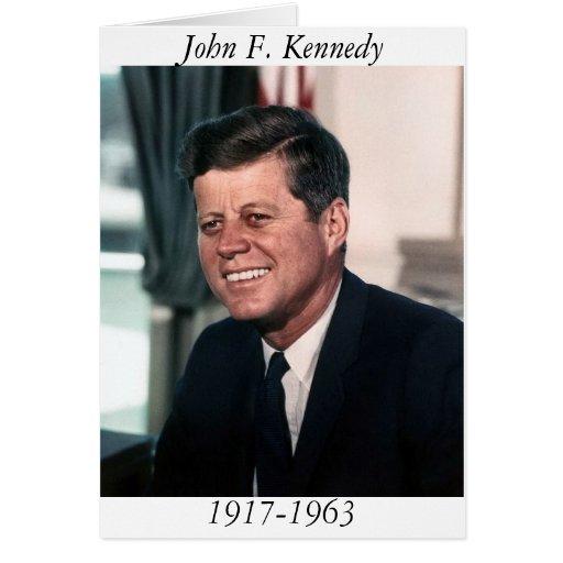 John F. Kennedy, retrato de la foto de la Casa Bla Tarjeta De Felicitación