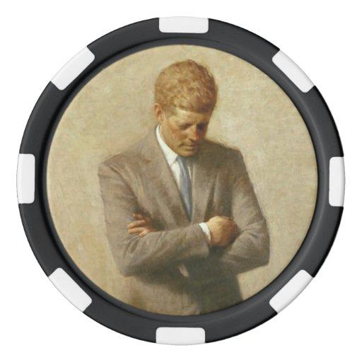 John F. Kennedy Set Of Poker Chips