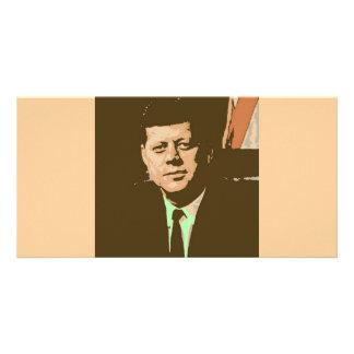 John F. Kennedy Tarjeta Con Foto Personalizada