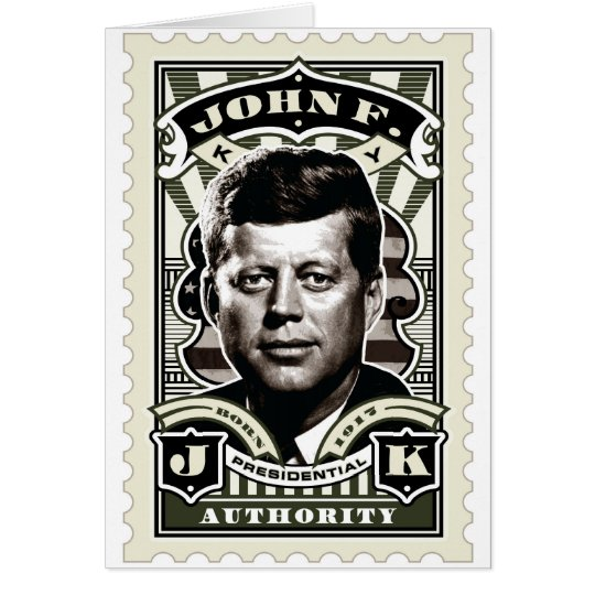 John F. Kennedy Vintage Stamp Art Card