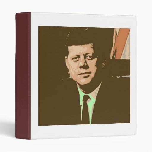 John F Kennedy Vinyl Binders