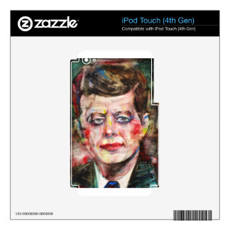 john f. kennedy - watercolor portrait iPod touch 4G decal