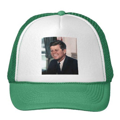 John F. Kennedy White House Color Portrait Trucker Hat