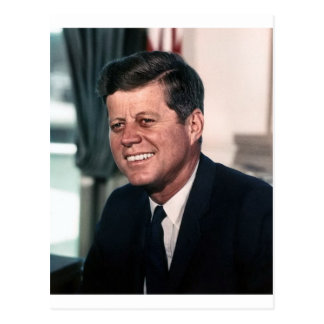 John F. Kennedy White House Color Portrait Postcard