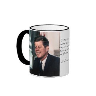 John F. Kennedy White House Color Portrait Ringer Mug