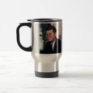 John F. Kennedy White House Color Portrait Travel Mug