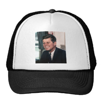 John F. Kennedy White House Color Portrait Trucker Hat