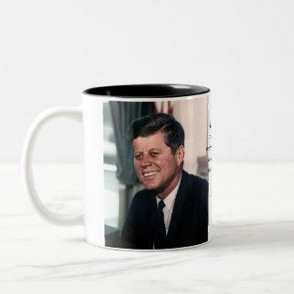 John F. Kennedy White House Color Portrait Two-Tone Coffee Mug
