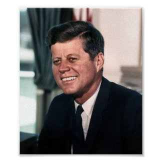John F Kennedy Whitehouse Portrait Posters