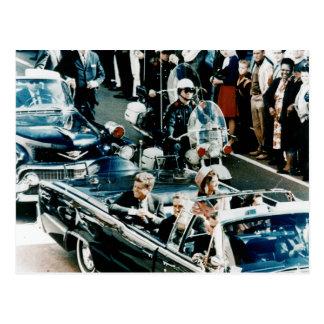 John F. Kennedy y Jackie en el desfile de Postales