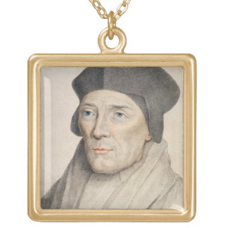 John Fisher, Bishop of Rochester (1469-1535) engra Square Pendant Necklace