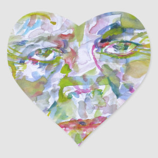 john fitzgerald kennedy - watercolor portrait.1 heart sticker