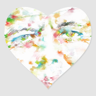 john fitzgerald kennedy - watercolor portrait.3 heart sticker