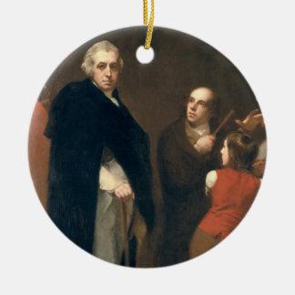 John Flaxman (1755-1826) modelling his bust of Wil Ceramic Ornament