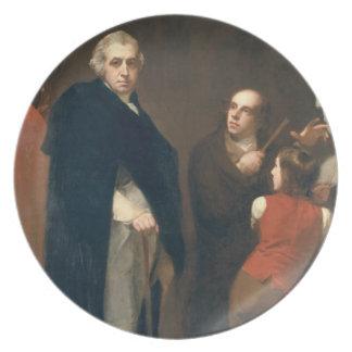 John Flaxman (1755-1826) modelling his bust of Wil Melamine Plate