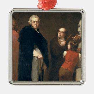 John Flaxman (1755-1826) modelling his bust of Wil Metal Ornament