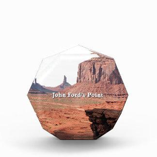 John Ford's Point, Monument Valley, Utah (caption) Acrylic Award