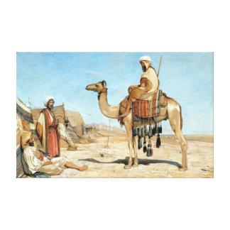 John Frederick Lewis A Bedouin Encampment Canvas Print
