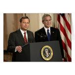 John G. Roberts & President George W. Bush Card