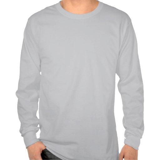 John Gaar Flaming Skull Mens Long Sleeve T-shirts