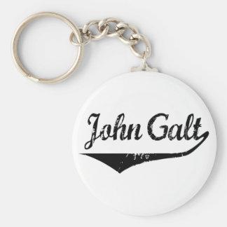 John Galt Basic Round Button Keychain