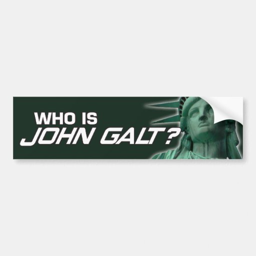 John Galt Bumpersticker Bumper Sticker