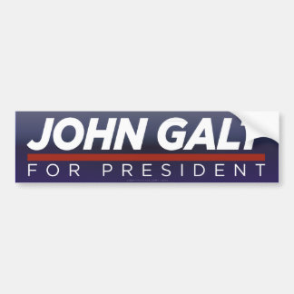 John Galt for President Bumper Sticker Car Bumper Sticker