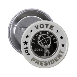 John Galt for President Pinback Button