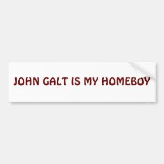 JOHN GALT IS MY HOMEBOY CAR BUMPER STICKER