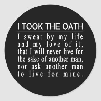 John Galt Oath stickers
