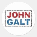John Galt Round Sticker